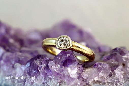 Stuller 12843 Custom Ring Bezel set diamond