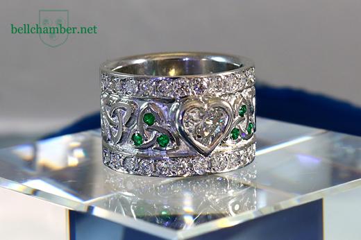 Celtic Heart Shaped Diamond Ring